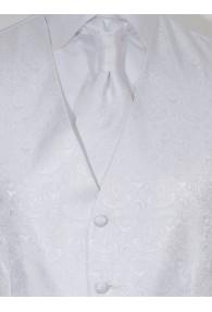 Hochzeitswesten Set Paisley Look Weiß Lorenzo