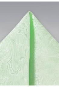 Ziertuch lebensfrohes Paisleymotiv blassgrün