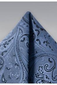 Kavaliertuch verspieltes Paisleymotiv leichtblau