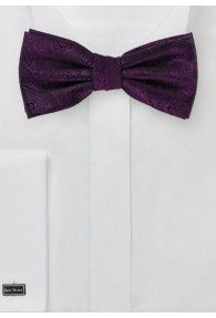 Schleife modernes Paisleymuster violett
