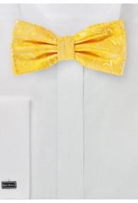 Herrenschleife stylisches Paisley gelb