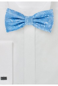 Schleife modernes Paisley himmelblau
