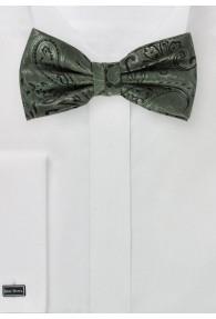 Schleife modernes Paisley-Muster olivgrün