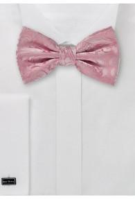 Herrenschleife Ranken-Pattern rosa