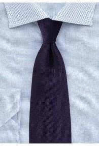 Herrenkrawatte filigran strukturiert violett