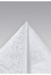 Herren-Einstecktuch weiß florales Motiv