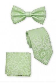 Fliege, Krawatte und Einstecktuch im Set waldgrün