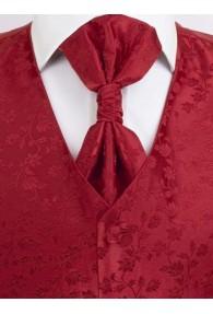 Hochzeitswesten Set florales Muster Rot Lorenzo
