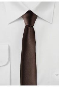 Extra schmal geformte Krawatte schokoladenbraun