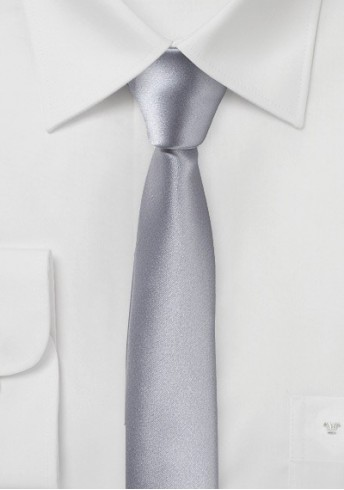Extra schmal geformte Krawatte silbergrau