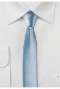 Extra schmal geformte Krawatte eisblau