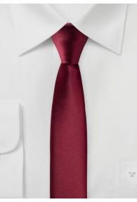 Extra schlanke Krawatte dunkelrot