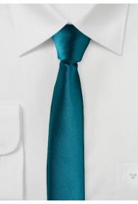 Extra schmale Krawatte dunkeltürkis
