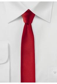 Extra schmal geformte Krawatte sherryrot