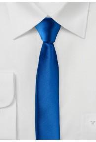 Extra schmal geformte Krawatte ultramarinblau