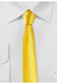 Extra schmal geformte Krawatte goldgelb