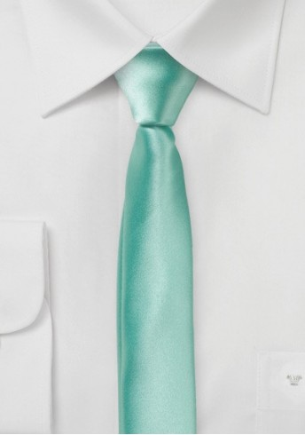 Extra schlanke Krawatte mint