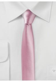 Extra schmal geformte Herrenkrawatte rosé
