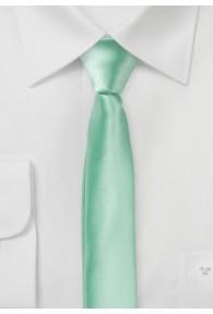 Extra schmale Herrenkrawatte blassgrün