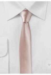 Extra schlanke Businesskrawatte blush-rosa