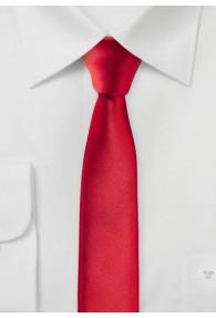 Extra schmal geformte Krawatte rot