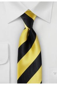 Krawatte schwarz goldgelb Blockstreifen