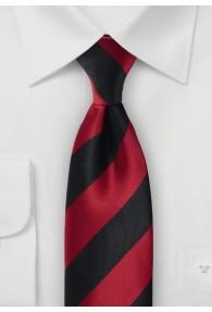 Krawatte tiefschwarz rot Blockstreifen