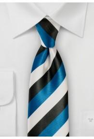 Krawatte Streifen asphaltschwarz schneeweiß