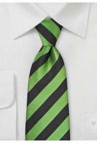 Clip-Krawatte Streifendessin grün nachtschwarz