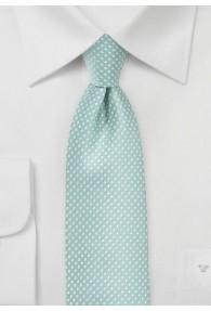 XXL-Krawatte in mint mit feinen Pünktchen
