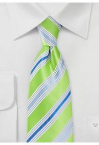 Gummizug-Krawatte Multi-Linien giftgrün