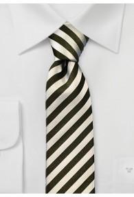 Chamonix Schmale Krawatte creme schwarz