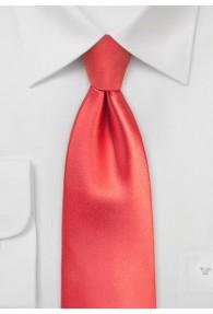 Krawatte schmal   in koralle
