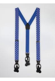Hosenträger elastisch blau rosa Punkte