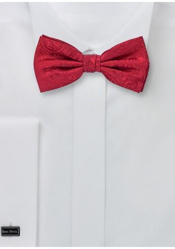Herrenschleife Paisley-Muster abgestuft rot