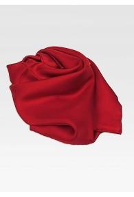 Damenhalstuch Seide rot unifarben