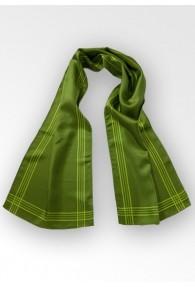 Tuchschal Streifenmuster waldgrün