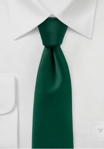 Modische Krawatte einfarbig tannengrün