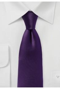 Modische Krawatte einfarbig aubergine