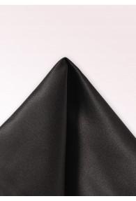 Einstecktuch Seide monochrom schwarz