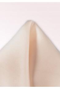 Ziertuch Seide monochrom creme