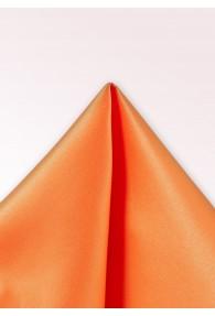 Einstecktuch Seide unifarben orange