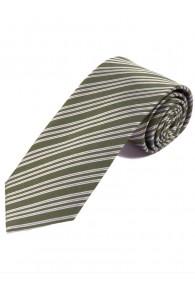 Streifen-Krawatte braungrün schneeweiß