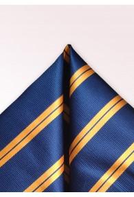 Kavaliertuch Streifen nachtblau orange