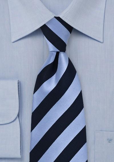 Gummizug-Krawatte blau hellblau Streifenmuster