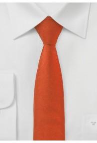 Krawatte schlank Baumwolle braunrot