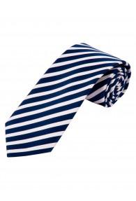 Herrenkrawatte Streifen weiß marineblau