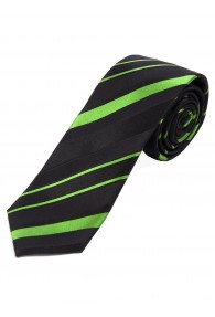Krawatte Linien grün tintenschwarz