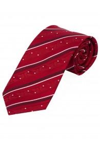 Krawatte Tupfen Streifen rot