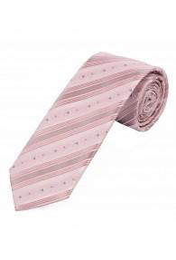 Krawatte Punkte Streifen rosé